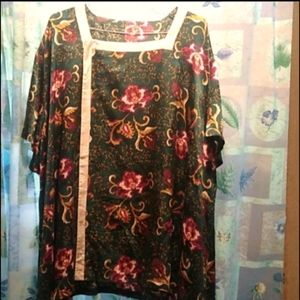 Chinese Silk Traditional Kimono Floral One Size
